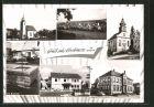 AK Brehmen, Kath. Kirche, Ev. Kirche, am Brunnen, Rathaus, Schulhaus