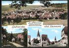 AK Stammheim, Panoramaanischt, Untere M�hle, Kirche, Hauptstrasse
