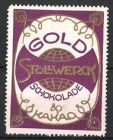 Reklamemarke Stollwerck Gold Schokolade, Globus & Ornamente