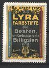 Reklamemarke Lyra Farbstifte, Stifte & Firmenlogo