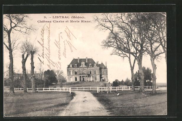 Ak listrac ch teau clarke et merle blanc nr 6282296 for Chateau clarke