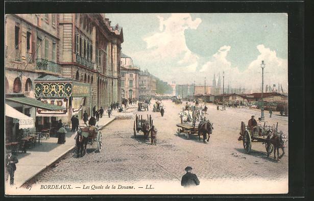 ak bordeaux les quais de la douane nr 6282308 oldthing ansichtskarten europa belgien. Black Bedroom Furniture Sets. Home Design Ideas