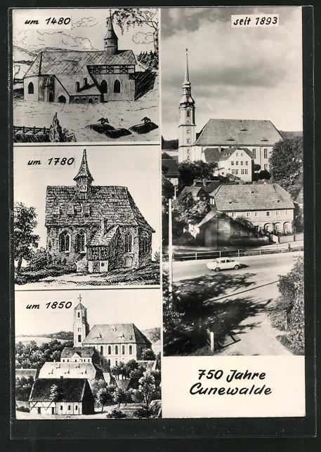 AK Cunewalde, Heimatkirche im Wandel der Jahrhunderte