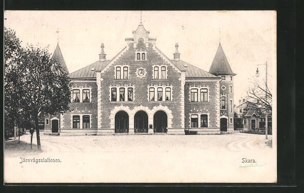 AK Skara, Järnvägsstationen, Bahnhof