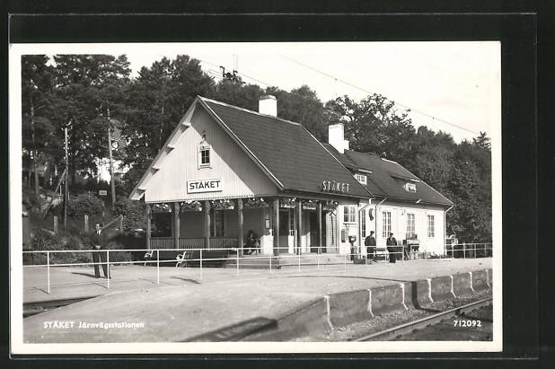 AK Staket, Järnvägsstationen, Bahnhof