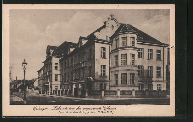 AK Erlangen, Laboratorium für angewandte Chemie, erbaut in den Kriegsjahren 1914-16