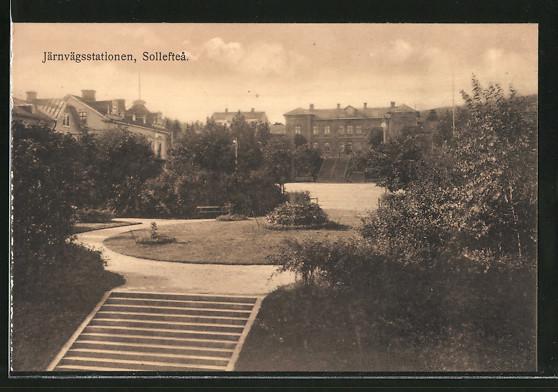 AK Solleftea, Järnvägsstationen, Bahnhof