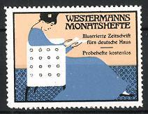 Reklamemarke Westermanns Monatshefte, Illustrierte Zeitschrift
