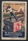 Reklamemarke Leipzig, Saucen-W�rfel, M. Schmeisser\'s N�hrmittelfabrik GmbH, Athlet beim Turnfest 1913