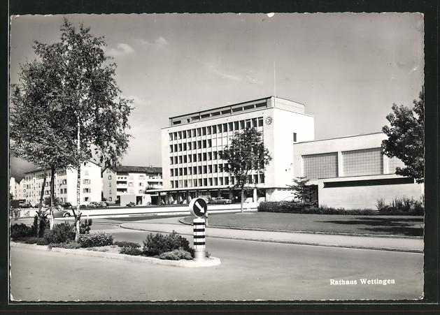 AK Wettingen, Strasse am Rathaus