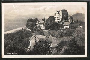 AK Wildegg, Ortsansicht mit Schloss