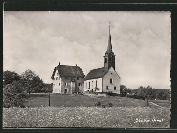 AK Göslikon, Blick zur Kirche
