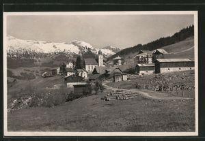 AK Sörenberg, Ortsansicht mit Schrattenfluh