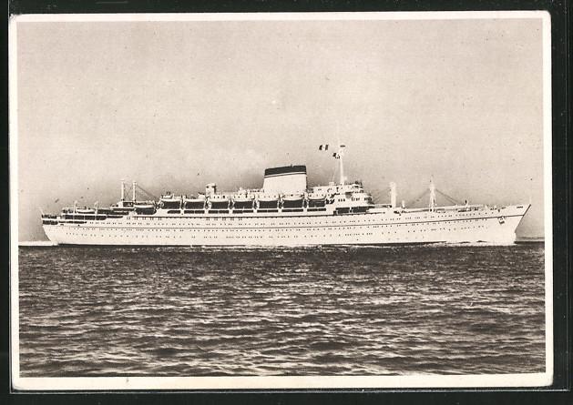 AK Societa di Navigazione Genova Motorschiff MN Giulio Cesare und MN Augustus