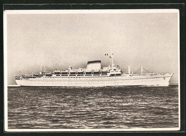 AK Passagierschiffe MN Giulio Cesare und MN Augustus der Societa di Navigazione Genova