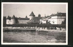 AK Morges, l'Arsenal, Hotel du Mont Blanc