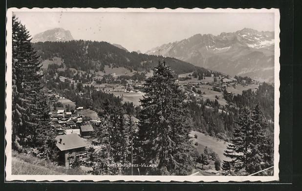 AK Chesières, Vue panoramique et les Diablerets
