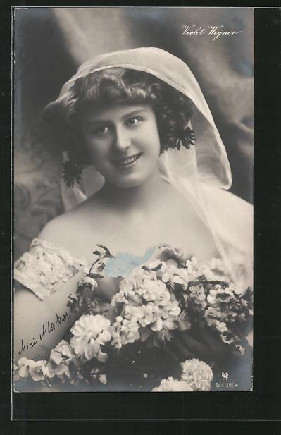 AK Schauspielerin Violet Wegner im Brautkleid Nr. 6311057 - oldthing ...