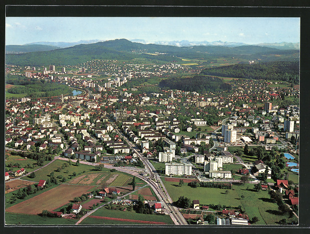 AK Dietikon, Fliegeraufnahme der Stadt