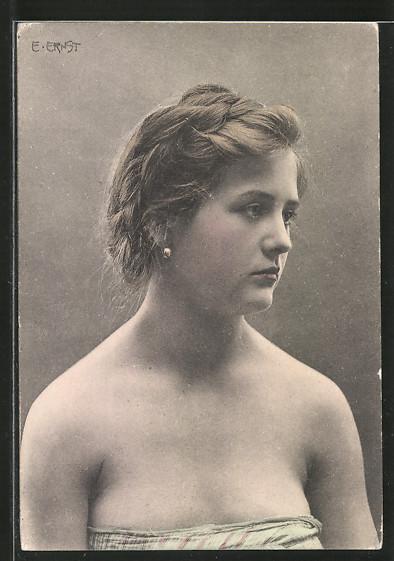 Künstler-AK E.Ernst: Porträt einer schönen jungen Frau