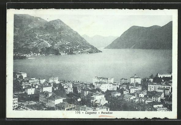 AK Paradiso, Blick über die Dächer der Ortschaft