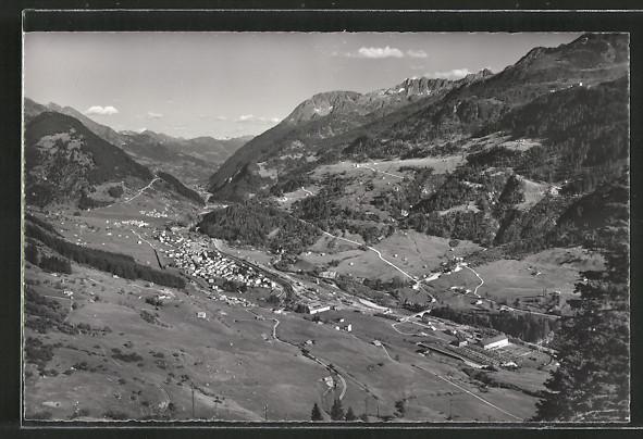 AK Airolo, Fernsicht der Ortschaft