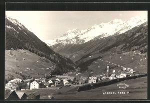 AK Airolo, Blick zum Ort
