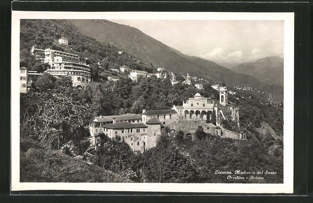 AK Locarno, Madonna del Sasso, Orselina e Brione
