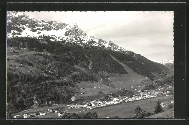 AK Airolo, Panoramablick mit Bergen, Ponc. di Vespero