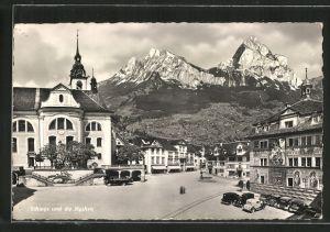 AK Schwyz, Ortspartie mit Blick nach den Mythen