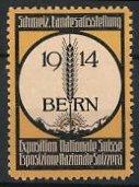 Reklamemarke Bern, Schweizer Landesausstellung 1914, Getreide-Ähre