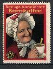 Reklamemarke Heilbronn, Seelig's kandierter Kornkaffee, Grossmutter trinkt Kaffee