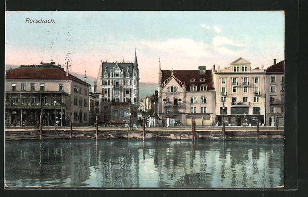 AK Rorschach, Partie am Hafen