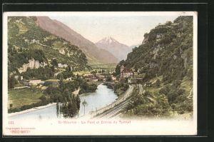 AK St. Maurice, Le Pont et Entrée du Tunnel