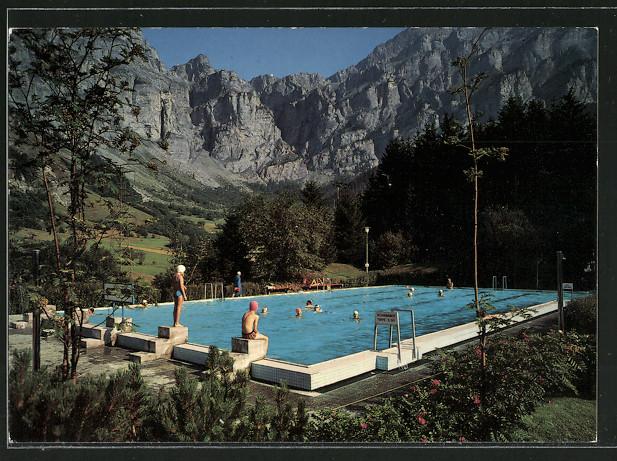 AK Leukerbad / Loèche les Bains, Schwimmbad mit Gemmipass