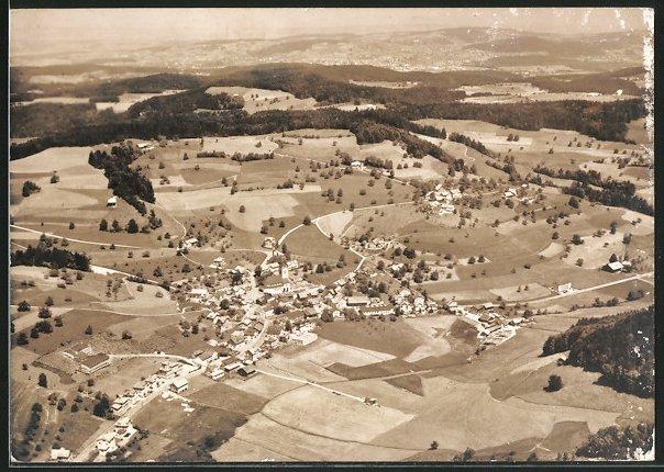 AK Gähwil, Luftaufnahme der Ortschaft
