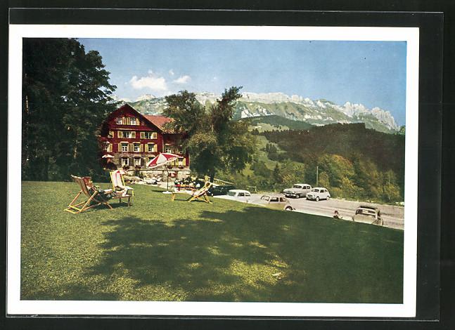 AK Grabserberg, Badekurhaus Grabserberg mit Alpenpanorama
