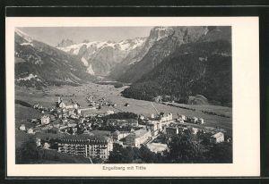 AK Engelberg, Ortsansicht mit Titlis