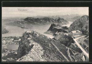 AK Pilatuskulm, Hotel und Vierwaldstättersee