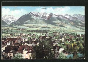 AK Sarnen, Blick über See & Nünalphorn