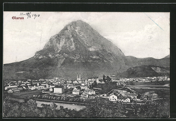 AK Glarus, Blick zum Ort