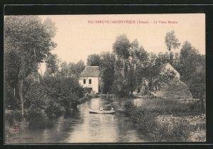 AK Villeneuve-l'Archevêque, le vieux moulin