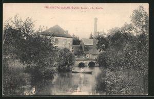AK Villeneuve-l'Archevêque, le moulin