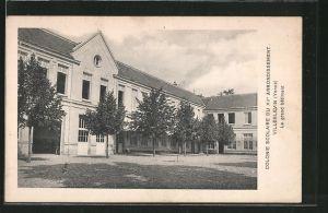 AK Villeblevin, colonie scolaire, le grand bâtiment
