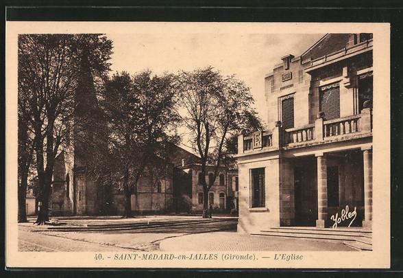 AK Saint-Médard-en-Jalles, l'église