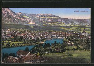 AK Solothurn, Gesamtansicht mit Bergen