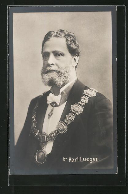 AK Bürgermeister Carl Lueger mit Amtskette