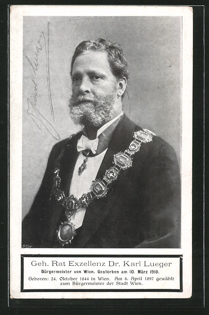 AK Geh. Rat Exzellenz Dr. Carl Lueger, Bürgermeister von Wien