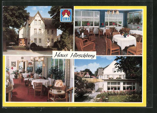 ak horn bad meinberg fremdenheim haus hirschberg nr 6343026 oldthing ansichtskarten. Black Bedroom Furniture Sets. Home Design Ideas