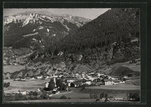 AK Zillis, Ortsansicht mit Bergen